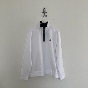 Nautica Fleece Lined 1/4 Zip Pullover Sweatshirt